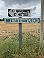 Panneaux Direction Chambres Hôtes Ain Vélo Route St Genis St Cyr Menthon 2.jpg