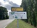 Panneaux Village Fleuri Jumelage Straubenhardt Route Mâcon St Cyr Menthon 1.jpg