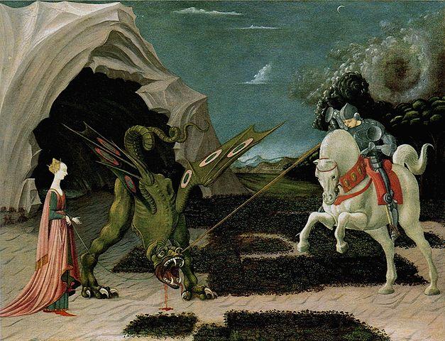 Паоло Уччелло. «Битва Св. Георгия со змеем»