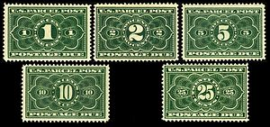 U.S. Parcel Post stamps of 1912–13 - Postage due stamps of 1912