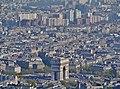 Paris Tour Eiffel Blick von der 3. Ebene auf den Arc de Triomphe de l'Étoile 1.jpg