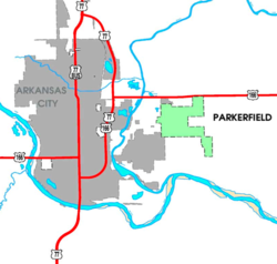 Detailed map of Parkerfield