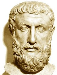 Bust of Parmenides from Velia (Source: Wikimedia)