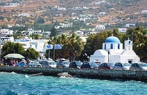 English: The Paros seefront in Greece.