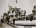 "Passengers on ferry ""Washington"" at dock, Golden Potlatch, Seattle, circa 1913 (MOHAI 5639).jpg"