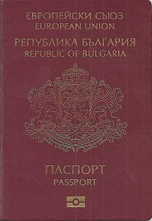 Bulgarian passport passport