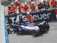 Al Gran Premio di Monaco 2012 Maldonado esce di scena già al primo giro.