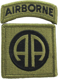82nd Airborne Division Active duty airborne infantry division of the US Army