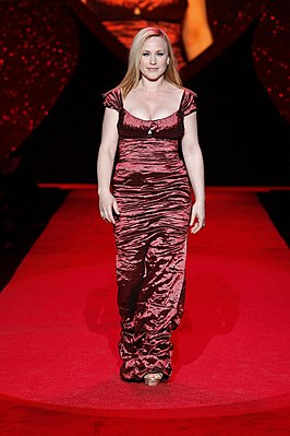Patricia Arquette tijdens de Heart Truth Fashion Show in 2009