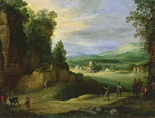 Landscape with Men Playing 'Mail  la Chicane'