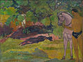 Paul Gauguin - Dans la vanillère, homme et cheval (1891).jpg