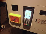 Octopus card reader at a McDonald's restaurant in Hong Kong