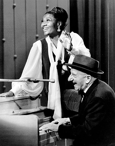 With the hostess on The Pearl Bailey Show (1971) Pearl Bailey Jimmy Durante Pearl Bailey Show 1971.JPG