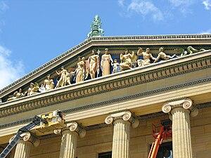 C. Paul Jennewein - Western Civilization, pediment sculpture, Philadelphia Museum of Art (1933)