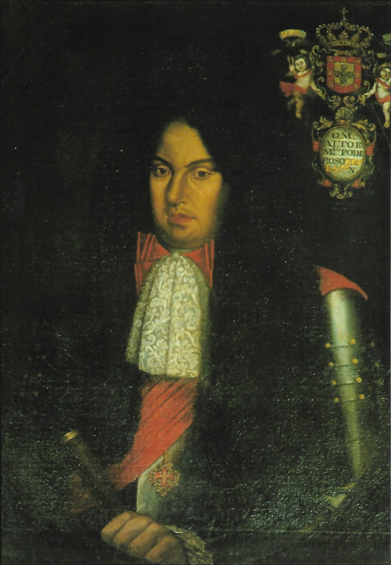 Prince Regent Pedro, Duke of Beja, future King Pedro II of Portugal. Pedro II PT.png