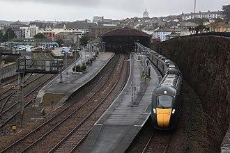 Penzance railway station - Image: Penzance GWR 802003+802013 London service