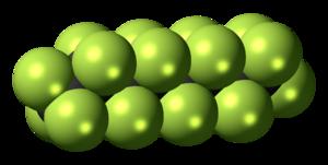 Perfluorooctane - Image: Perfluorooctane 3D spacefill