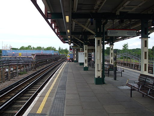 Perivale station westbound