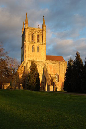 Pershore Abbey - Image: Pershore Abbey from the west