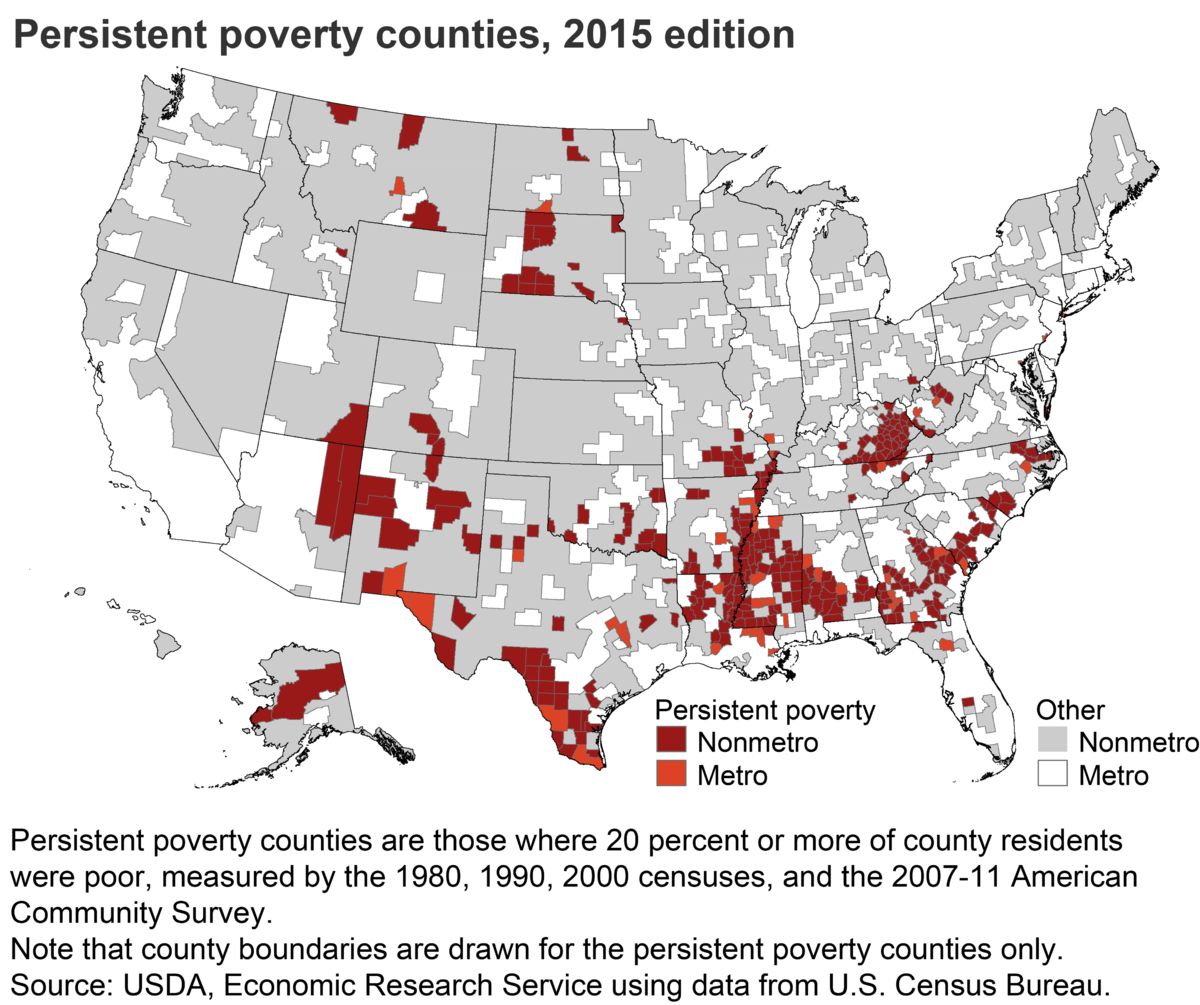 Persistent Poverty County Wikipedia - Us poverty map census bureau