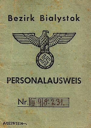 Bezirk Bialystok - Personalausweis of Bezkirk Bialystok (1943).