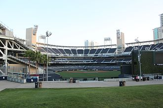 Park at the Park - The view of Petco Park from the Park at the Park, 2010