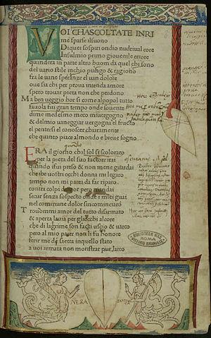 Il Canzoniere - Image: Petrarca Canzoniere, MCCCCLXX 929090 Carta