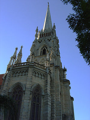 Cathedral of Petrópolis - Petrópolis Cathedral facade with bell tower