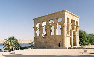 Tempio traianeo sull'isola di Philae, il nuovo confine meridionale tra Nobati e Blemmi e la provincia romana d'Egitto[187]