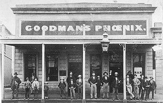 Talbot, Victoria - Goodman's Phoenix Hotel built after Goodman's original Hotel was destroyed by fire. The Phoenix still stands in Scandinavean Crescent today.