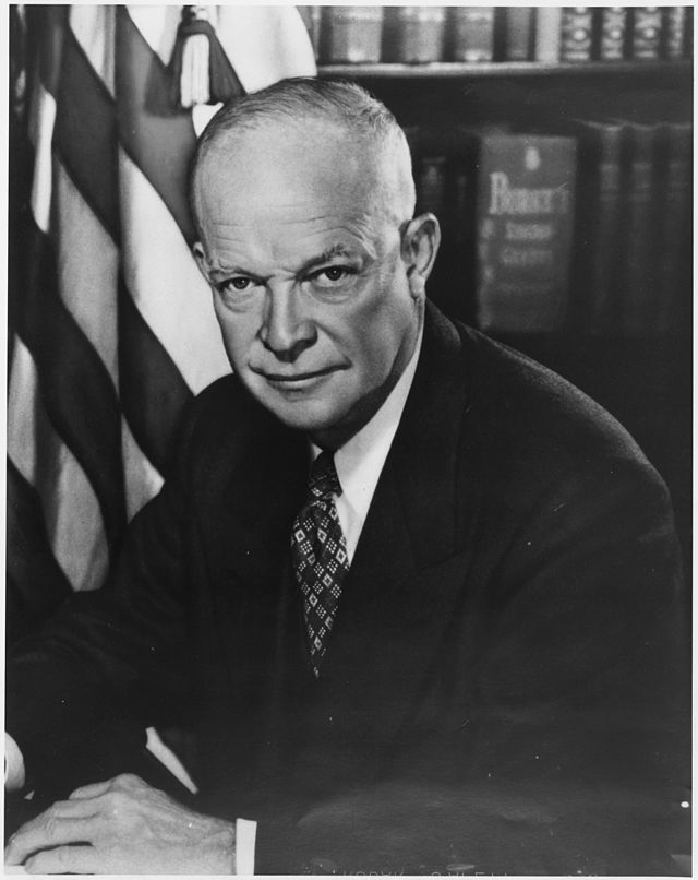 From commons.wikimedia.org: Photograph of Dwight D. Eisenhower {MID-313181}
