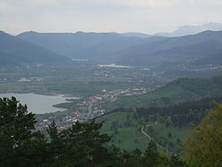 Piatra Neamt - Top Of Mt. Cozla 2 (Bistrita view towards west).JPG