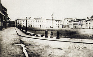 Theodosia Trollope - The Piazza Maria Antonia in 1860 when the Trollopes lived there