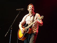 Pierre Bouvier of Simple Plan (St-Jean-sur-Richelieu, Quebec - 8 August 2009).jpg
