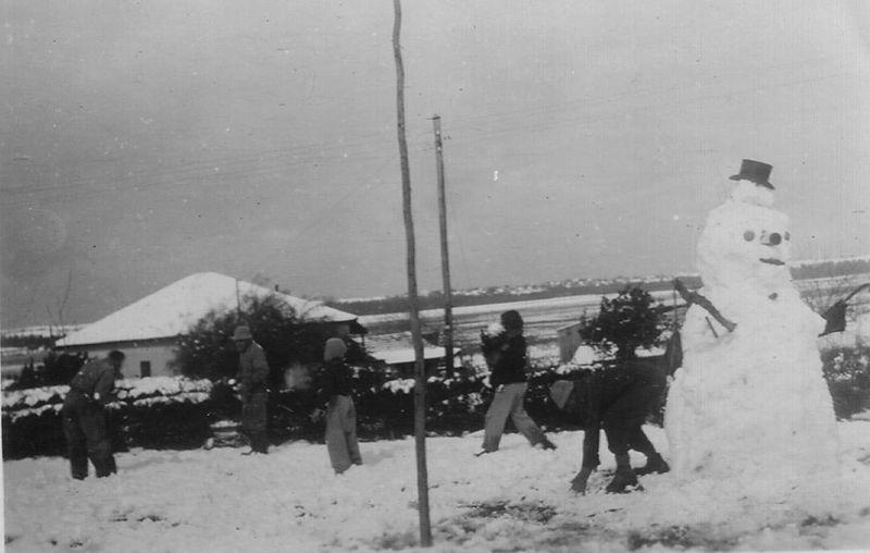 שלג בכפר ינואר 1950