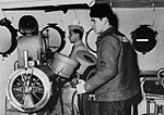 Pilothouse aboard USS San Juan (CL-54), during World War II.jpg