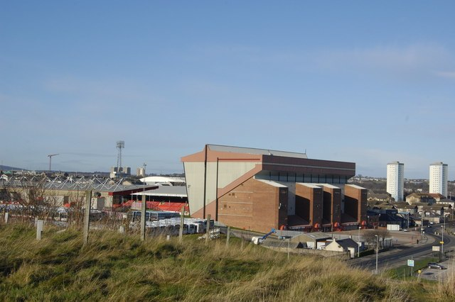 Pittodrie Stadium viewed from Broad Hill - geograph.org.uk - 1573187