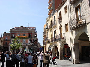 Sant Celoni - Town Hall Square (Plaça de la Vila) in Sant Celoni