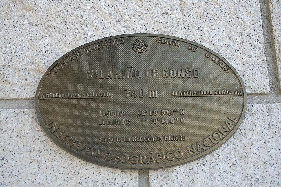 Placa altimétrica de Vilariño de Conso