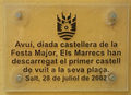 Placa dedicada als Marrecs a l'Ajuntament de Salt 2002.jpg