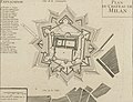 Plan du Chateau de Milan, Valence Ville Forte d'Italie, des Estats de Milan Située sur la Riviere du Po (cropped).jpg