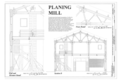 Planning Mill - Wall and Elevator Detail, Section, and Truss Detail - Western Railway of Alabama Montgomery Rail Shops, 701 North Perry Street, Montgomery, Montgomery HAER AL-186 (sheet 6 of 14).png