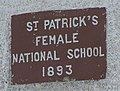 Plaque, St Patrick's Female National School - geograph.org.uk - 1368526.jpg