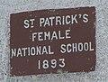 Plaque, St Patrick's Female National School - geograph.org.uk - 1368526.jpg