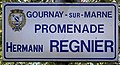 Plaque Promenade Hermann Regnier - Gournay-sur-Marne (FR93) - 2021-04-24 - 1.jpg