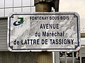 Plaque avenue Maréchal Lattre Tassigny Fontenay Bois 5.jpg