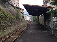 Platform of Naka-Sasebo Station (East).JPG