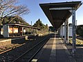 Platform of Toyotsu Station (Tagawa Line) 9.jpg