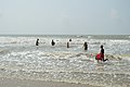 Playful People with Sea Waves - New Digha Beach - East Midnapore 2015-05-03 9815.JPG