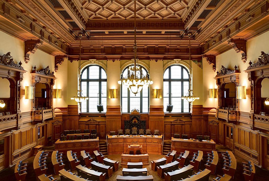 Plenarsaal Hamburgische Bürgerschaft im Hamburger Rathaus